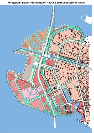 Морской портовый терминал, пассажирский порт на Васильевском острове, острове Декабристов, план, схема.